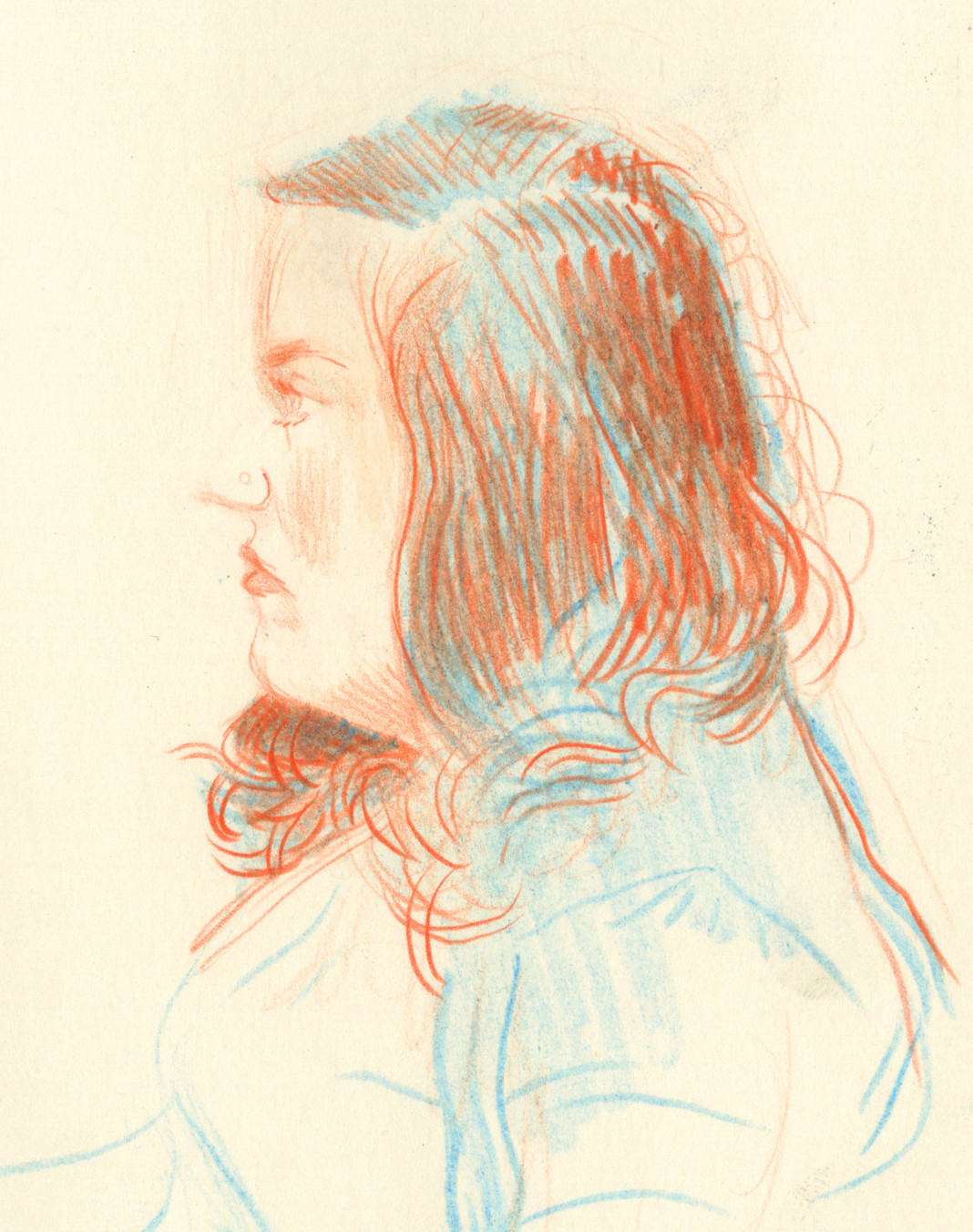 Anne Cuddy, pencil, 4x6