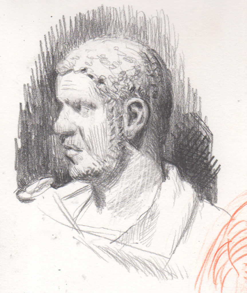 "Caracalla, probably Italy, 215-217 CE - Nelson-Atkins Museum of Art. 2""x4"", pencil."