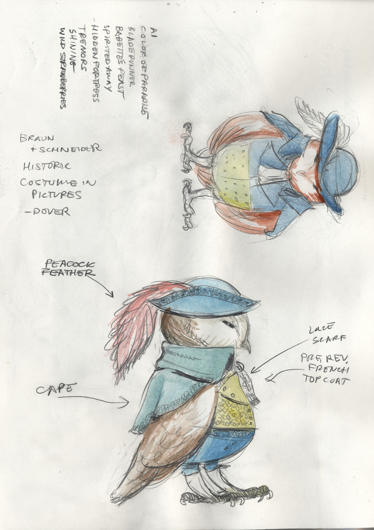 Costume design for the Tailor.