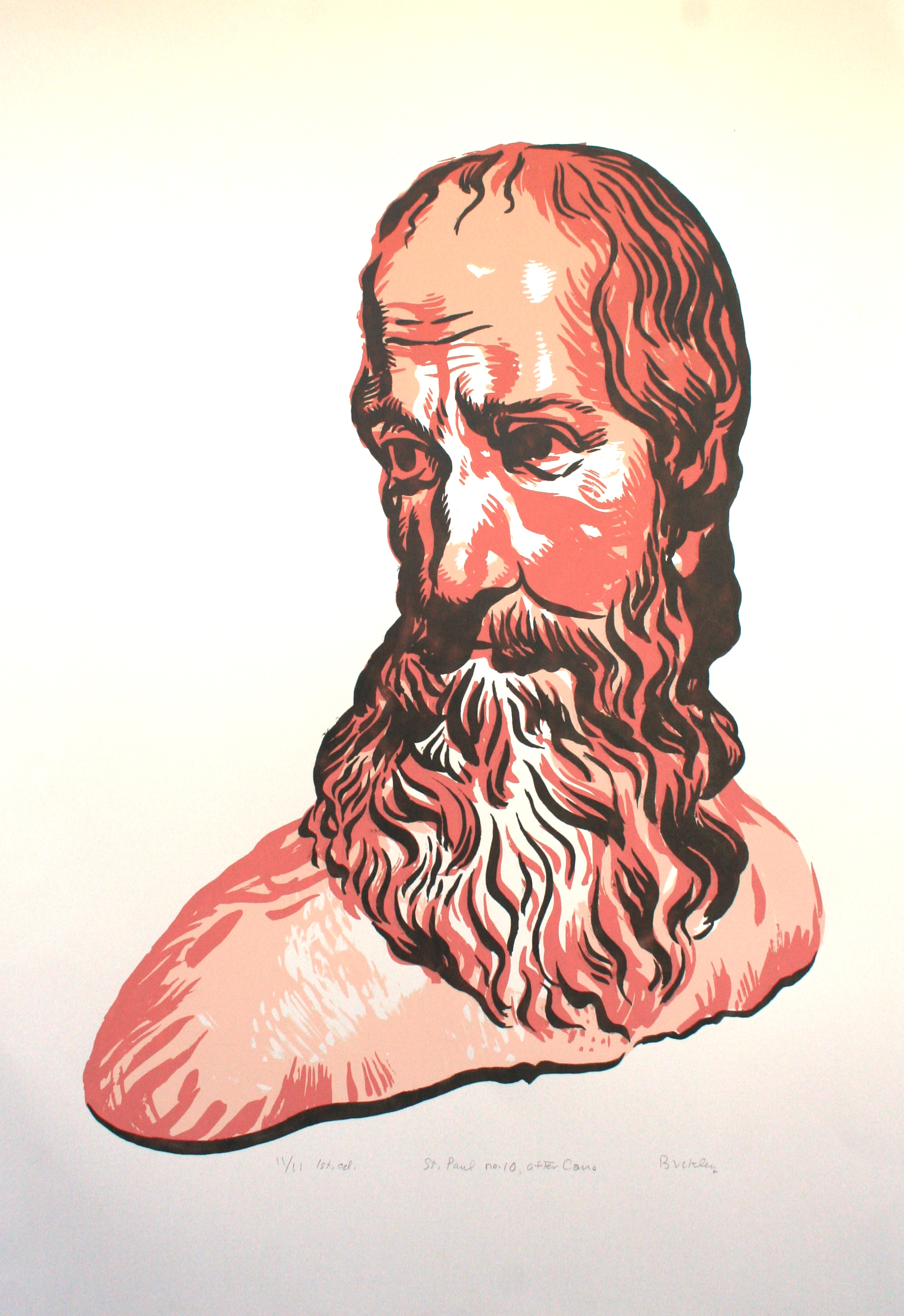 St. Paul no. 10, after Cano. 1st ed. 11/11 Image 70 x 50 cm, screen print on pearlized paper