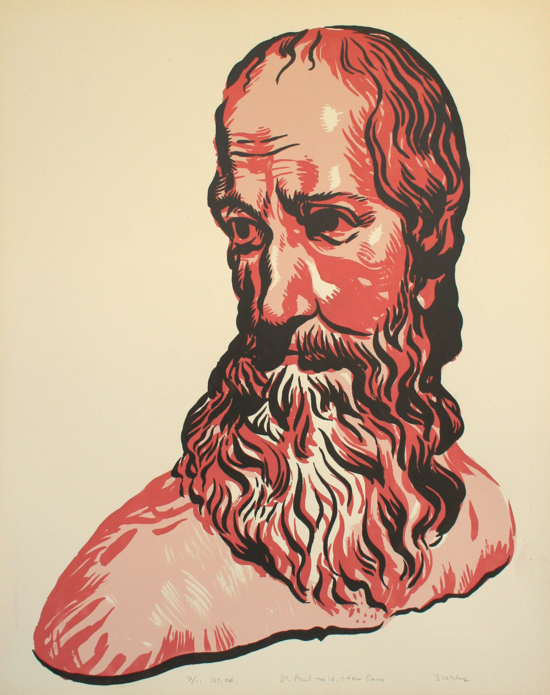 St. Paul no. 10, after Cano. 1st ed. 6/11 Image 70 x 50 cm, screen print on Strathmore 3ply